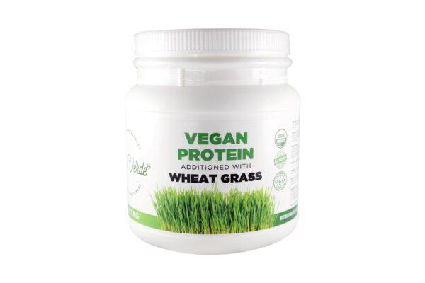 Proteína Vegana Adicionada con Pasto de Trigo Bien Verde